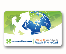 use onesuite as a phone card